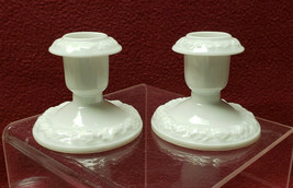 "Pair (2) ROSENTHAL China - MARIA / CLASSIC ROSE Pattern - 2"" CANDLESTICKS - $29.95"
