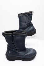 Lands' End Kid Boys Winter Snow Boots Sz 12 Navy Blue Insulated Pull On ... - $19.79
