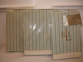 Ralph Lauren Cole Brook Stripe Standard Pillowcases Nwt - $50.30