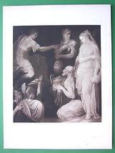 NUDE Roman General & Spanish Girl Virgin - Victorian Era Antique Print - $21.60