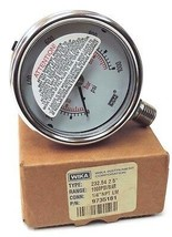 NIB WIKA 232.54 2.5'' GAUGE P/N: 9735181, 1/4'' NPT LM, 1000PSI/BAR