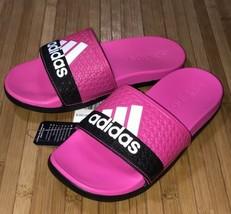 Adidas Adilette Comfort K Kids Slides Sandal BA44875 Shock Pink White Black-13K  - $19.79
