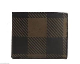 New Fossil Mens Neale Bifold Leather Wallet Green/Black - $36.99