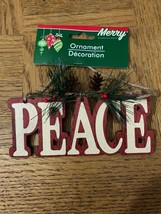 Peace Christmas Ornament - $16.54