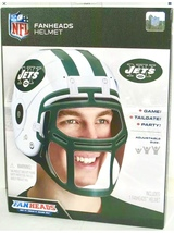 NIB NY Jets NFL Fanheads Adjustable Size Helmet Jakks Tailgating Party Football - $11.87