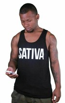 Dope Couture Black or White SATIVA Weed Marijuana Tank Top Muscle Shirt image 2