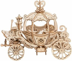 Cinderella Carriage Wooden Model Kit Princess Pumpkin 3D Laser Cut Hobby... - $20.40