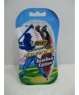 Bic Comfort 3 Advance Shavers For Men Baseball Edition 4 Razors Triple B... - $9.99