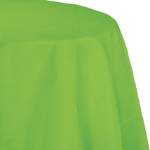 82 inch Octy Round Tissue/Poly Tablecover Fresh Lime/Case of 12 - $50.00