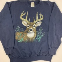 Vintage Cotton Grove Deer Buck Blue Sweatshirt Men's Size 2XL - $39.59