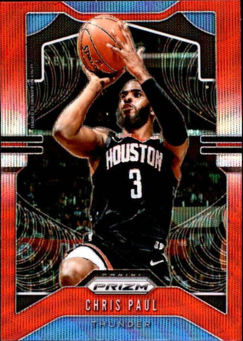 Primary image for 2019-20 Panini Prizm Prizms Ruby Wave #211 Chris Paul Oklahoma City Thunder
