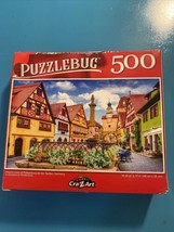"New PUZZLEBUG 500 Piece Jigsaw Puzzle Historic Town Germany  18.25X11"" - $9.80"