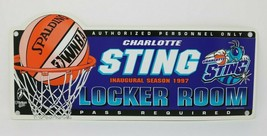 Charlotte STING Inaugural Season 1997 Locker Room Sign Vintage  - $19.77