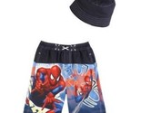 Infant Boys Spiderman Swimming Trunks Suit Hat 12 Month