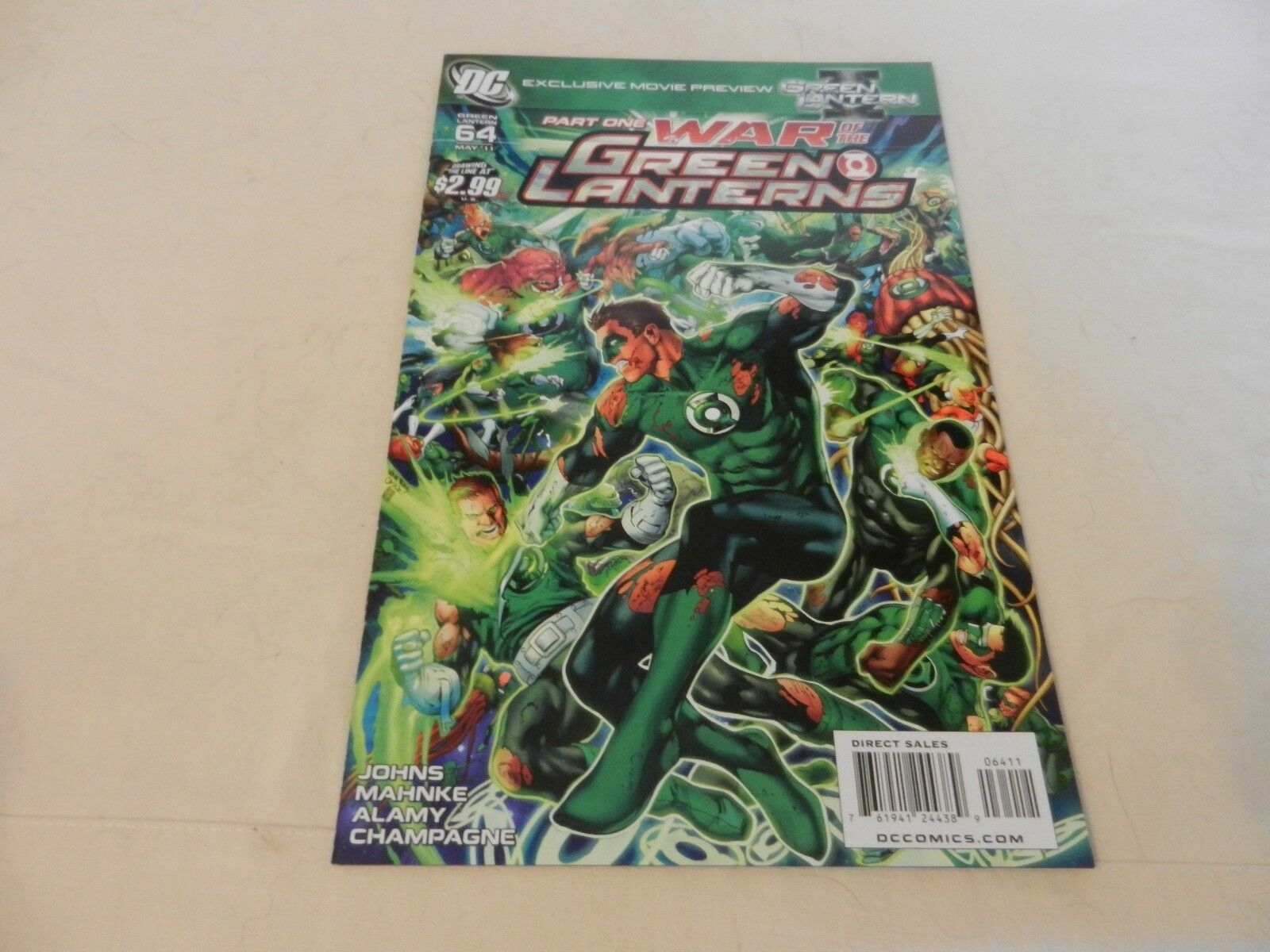 Part One War of The Green Lanterns DC Comics #64 May 2011