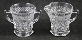 Cape Cod, Creamer and Sugar with Hex Foot, made by Imperial Glass Co. - $8.00
