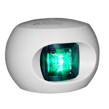Aqua Signal Series 33 Starboard LED Side Mount Light - White Housing [33203-7] - $56.23