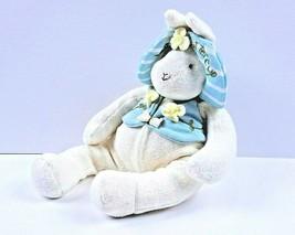 "2002 Hallmark Bunnies By The Bay Buttercup Bunny 12"" Tall Plush w/Hat An... - $8.82"