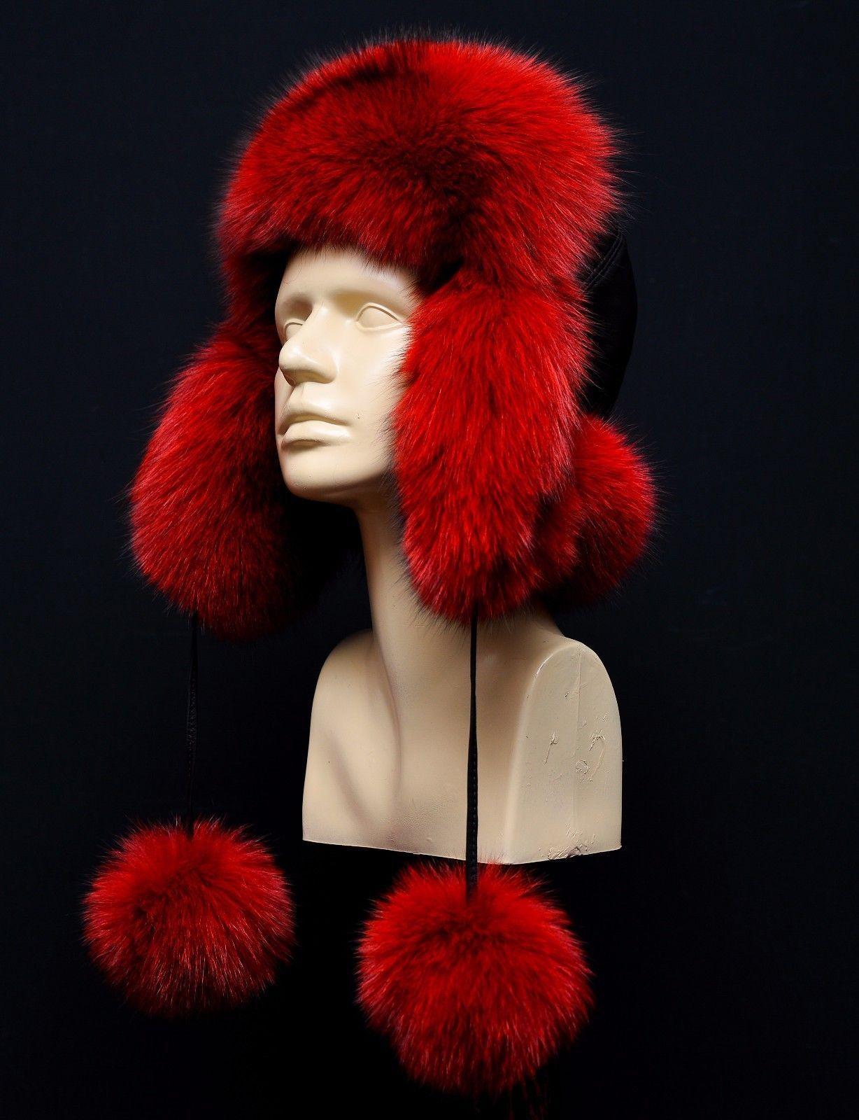 f2f0b58ed Genuine Real Blue Pure Red Fox Fur Womens and 50 similar items