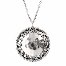 Silpada 'Circle' Hammered Swirl Pendant Necklace in Sterling Silver - $67.14