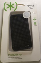 Speck Products PixelSkin HD Rubberized Cell Phone Case for HTC One V - BLACK NEW - $9.89