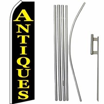 ALBATROS Antiques Black Yellow Swooper Super Flag with 16ft Flagpole Kit... - $165.02