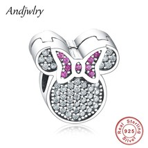 925 Sterling Silver Cartoon Mickey Minnie Charms Clip Stopper Beads Fit ... - $26.29