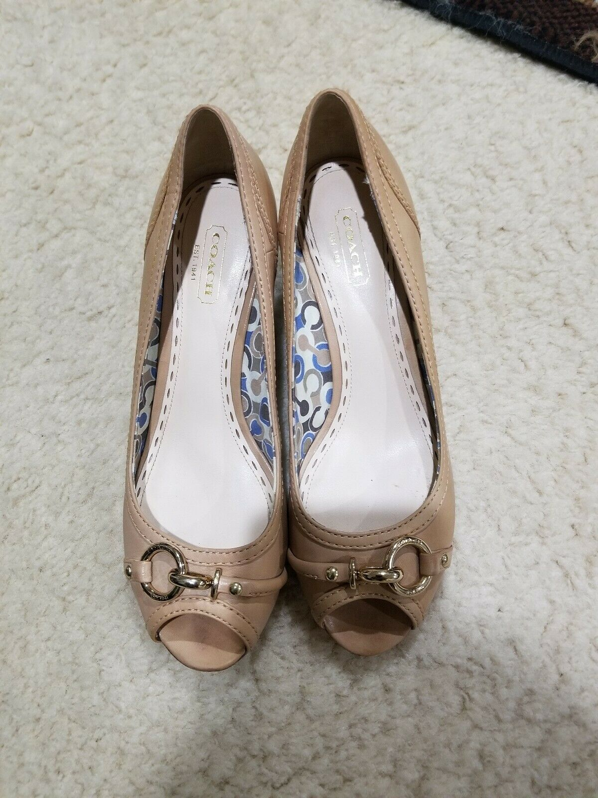 f931f39ba3 COACH Stella Leather Open Toe Wedge Shoes and 50 similar items. S l1600