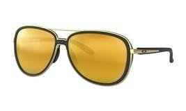 Oakley Split Time Women's Sunglasses OO4129-0358 Velvet Black 24K Iridiu... - $164.34
