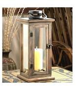 Rustic Wood Lantern Large Aged wood Candleholder Wedding Centerpiece - $23.67