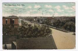West Main Street Enid Oklahoma 1911 postcard - $4.46