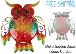 Wall Metal Art Outdoor Hanging Garden Sculpture Owl Statue Decor Yard Fi... - $39.99