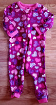 Girl's 9-12 M Month One Pc Burgundy Heart Designed Children's Place Pants Romper - $9.00