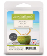 ScentSationals Coconut Vacay Wax Melts Limited Edition Fragrance Cubes T... - $9.74