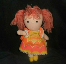 "9"" Vintage 1981 Knickerbocker Sunshine Love Rainbow Girl Stuffed Animal Toy Doll - $18.70"