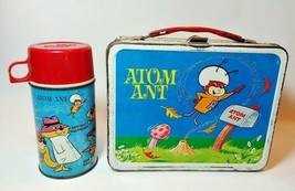 Atom Ant Secret Squirrel and Morocco Mole Metal Lunchbox & Thermos 1966 - $158.35