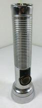 "Vintage Flashlight Eveready Energizer Ribbed Metal Chrome Union Carbide 6.5"" - $5.89"