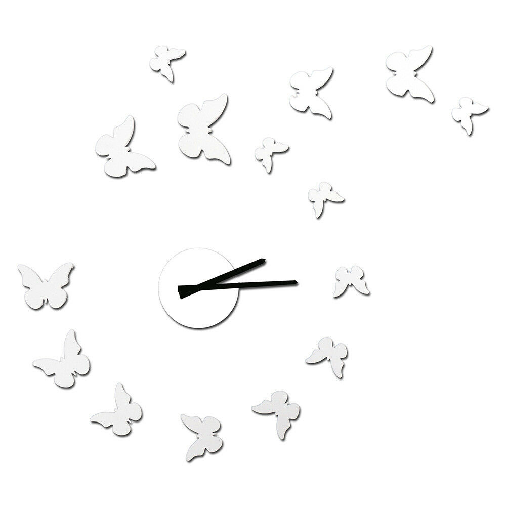 NEW! DIY SELF ADHESIVE WALL CLOCK - DO IT YOURSELF 3D BUTTERFLY WALL CLOCK - $12.82