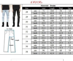New Men hip hop Men Jeans masculina Casual Denim distressed Men's Slim Jeans pan image 7