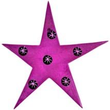 Tabaka Chigware Hand Carved Kisii Soapstone Fuchsia Magenta Star Stone Ornament image 2