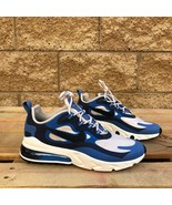 NIKE AIR MAX 270 REACT MEN'S BLUE/BLACK MID-TOP LIFESTYLE SHOE CK4885-99... - $94.44