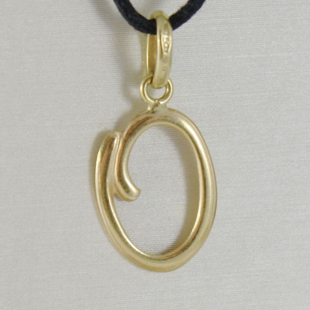 PENDANT YELLOW GOLD 18K WITH INITIAL 0,5 LETTER 0,5 LUCIDA 2,5 CM WITH CORD