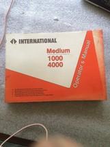 International Medium Duty 1000 & 4000 Operators Manual International Trucks - $24.18
