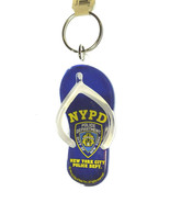 NYPD Lucite Blue Flip-Flop Keyring Fob Officially Licensed by the State ... - $7.97