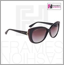 BVLGARI LOGO BV8157BQ Black Burgundy Leather Violet POLARIZED Sunglasses 8157 image 5