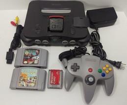 Nintendo 64 N64 Console W Expansion Pack Starfox StarWars Racer Black Te... - $124.99