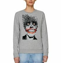 DC Comics The Joker Bat Scatter Adults Unisex Grey Sweatshirt - $33.35