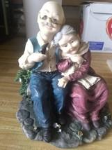 Parent grandparent elderly anniversary porcelain ceramic statue collecti... - $59.40