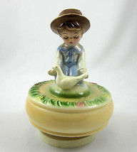 Schmid Vintage 1979 Ceramic Music Box Talk to the Animals Dr Dolittle Ro... - $29.99