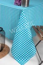 "Aquablue Plaid Tablecloth,Cotton Duck 45""x63""inch for Restaurant,Home Di... - €25,62 EUR"